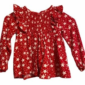 Jessica Simpson Ruffle Smocked Front Star Top 18mo
